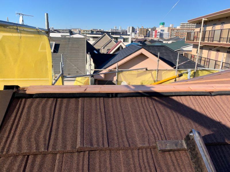 リフォーム施工中屋根重ね葺き工事【213】横浜市南区