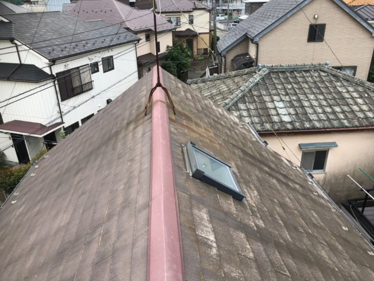 施工前屋根重ね葺き工事、外壁塗装工事、雨樋交換工事【198】埼玉県和光市