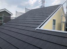 屋根重ね葺き工事、外壁塗装工事、雨樋交換工事【221】横浜市都筑区