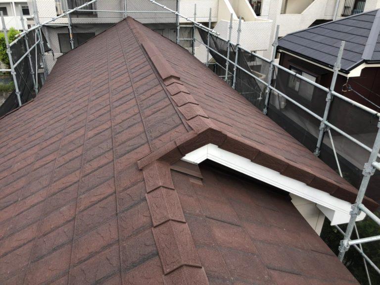 施工後屋根重ね葺き工事、外壁塗装工事【217】横浜市青葉区