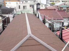 屋根重ね葺き工事、外壁塗装工事、シーリング工事【216】横浜市南区