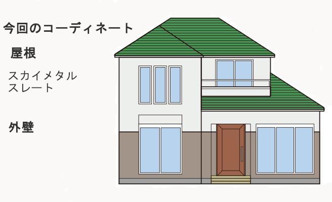 イラスト屋根葺き替え工事、瓦棒葺き替え工事、庇重ね葺き工事【218】大和市