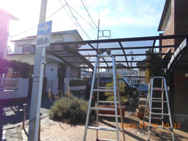 リフォーム施工中棟交換工事、カーポート交換工事【219】藤沢市