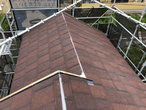 リフォーム施工中屋根重ね葺き工事、外壁塗装工事【217】横浜市青葉区