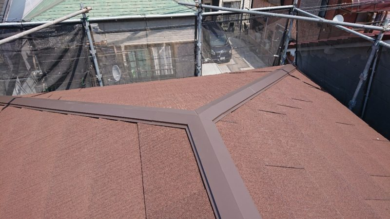 施工後屋根重ね葺き工事、外壁塗装工事、シーリング工事【216】横浜市南区