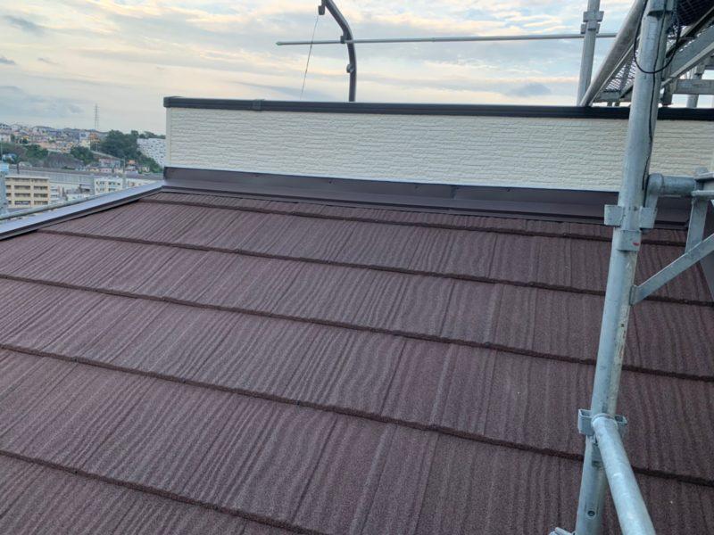 屋根重ね葺き工事、外壁塗装工事、外塀塗装工事、雨樋交換工事【223】