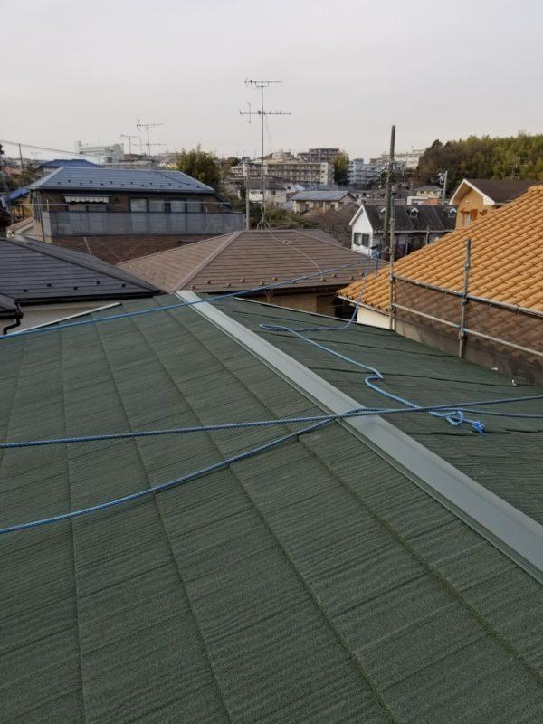 施工後屋根重ね葺き工事、植栽伐採工事【228】