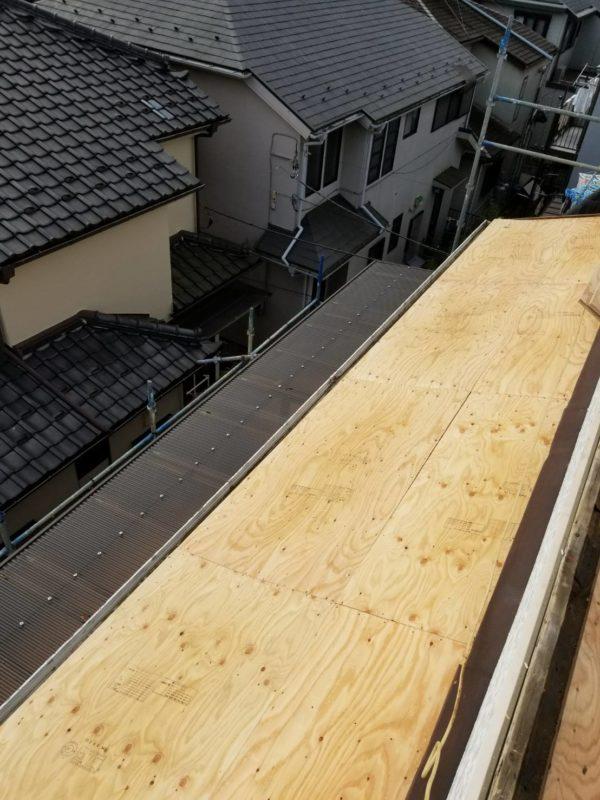 リフォーム施工中屋根葺き替え工事【229】