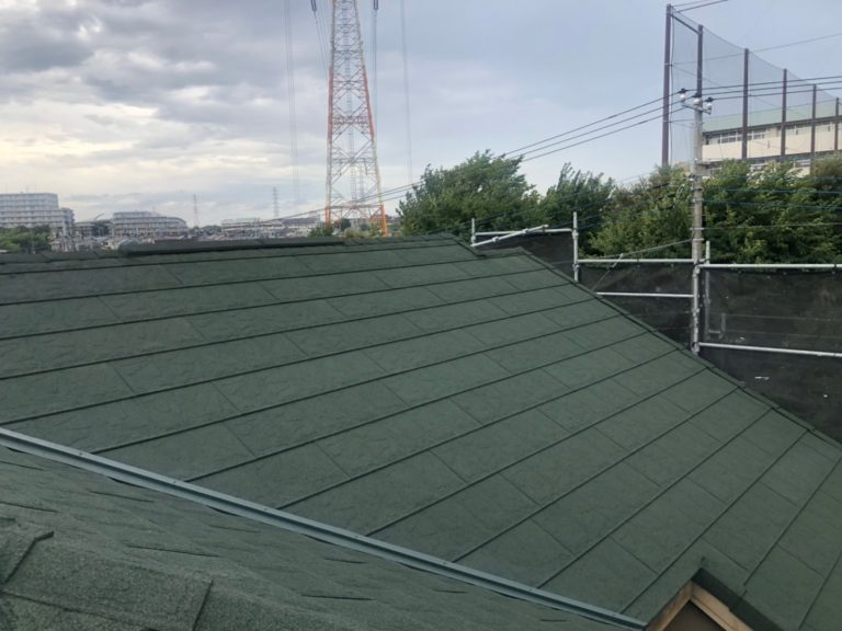施工後屋根重ね葺き工事、外壁塗装工事、雨樋交換工事【225】