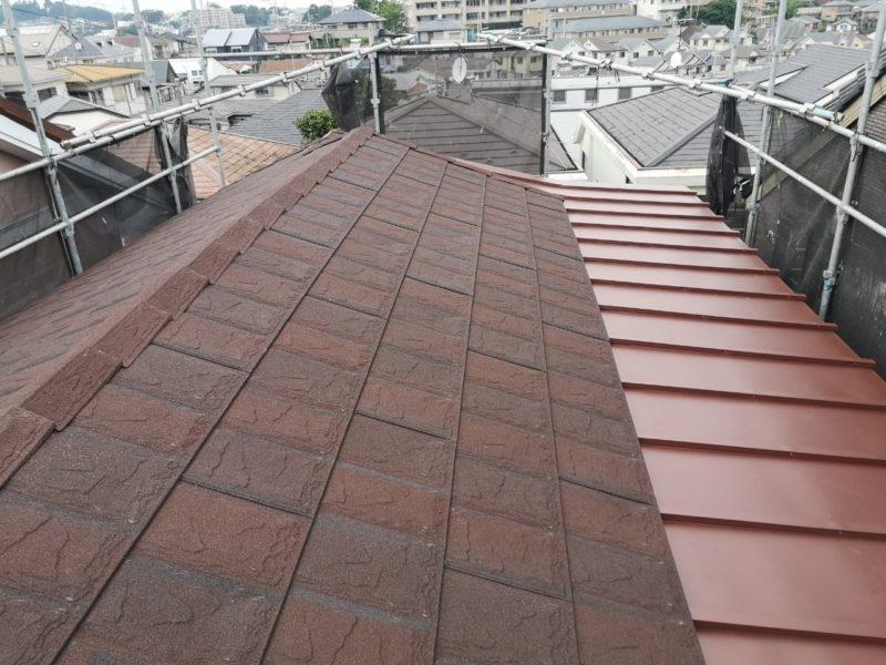 屋根葺き替え工事(和瓦&瓦棒)、破風板金取付工事、雨樋交換工事【226】