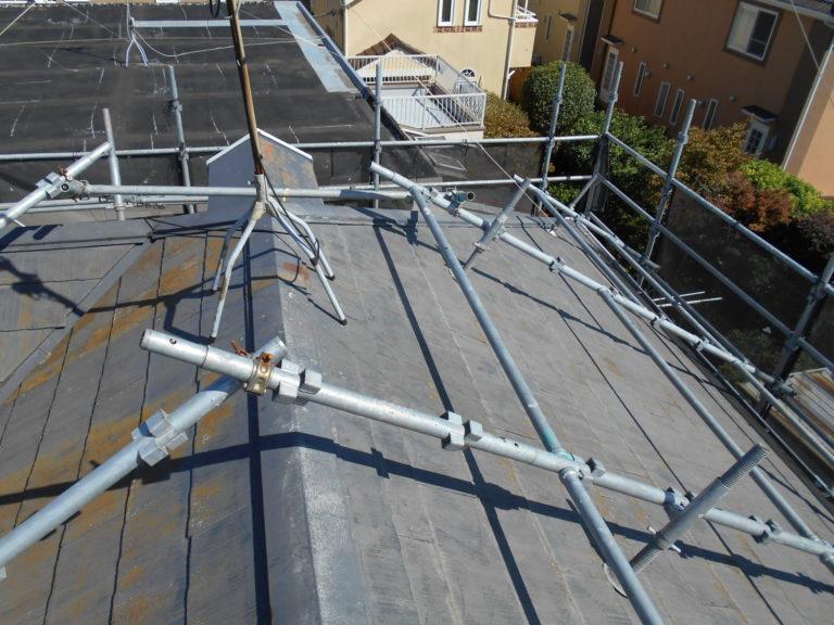 施工前棟交換工事、屋根塗装工事、部分塗装工事【237】
