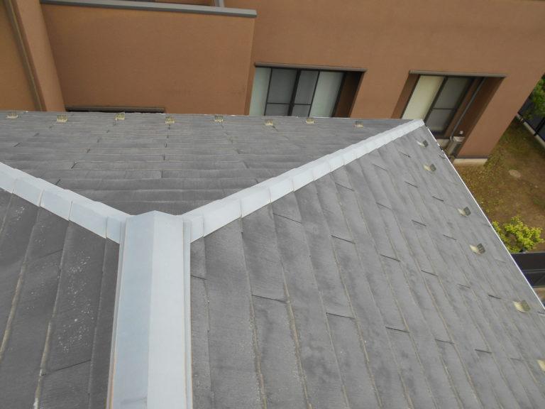 施工前屋根重ね葺き工事、外壁塗装工事、雨樋交換工事【225】