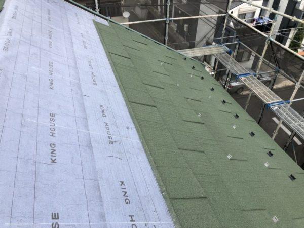 リフォーム施工中屋根葺き替え工事・太陽光パネル脱着工事【230】