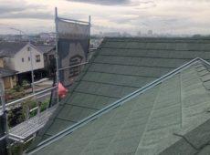 屋根重ね葺き工事、外壁塗装工事、雨樋交換工事【225】