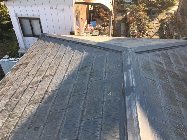 施工前屋根重ね葺き工事、雨樋交換工事【238】