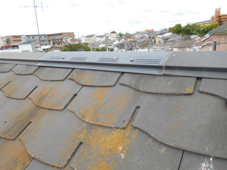 施工前屋根重ね葺き工事、外壁塗装工事、雨樋交換工事【239】