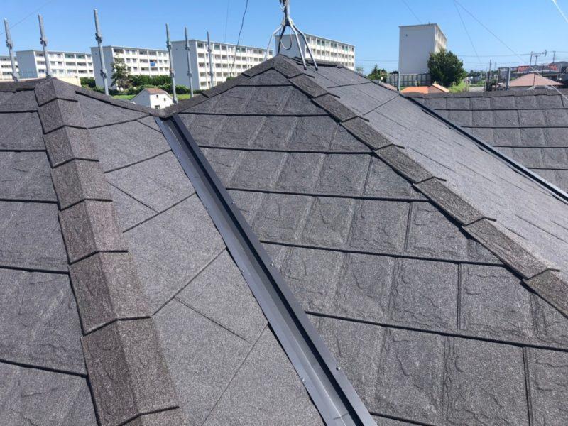 屋根重ね葺き工事、外壁塗装工事、雨樋交換工事【239】