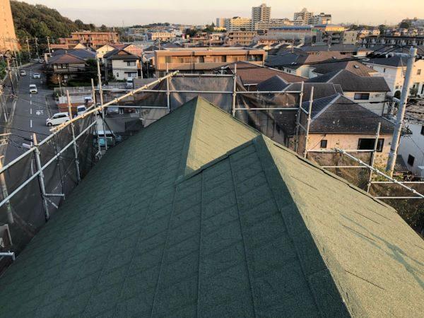 施工後屋根重ね葺き工事、雨樋交換工事【244】