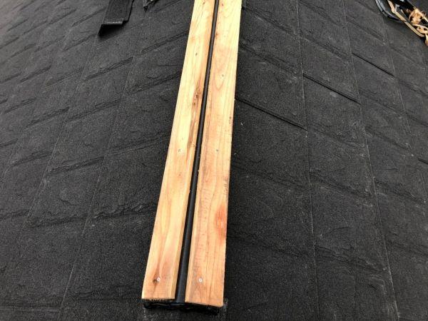 リフォーム施工中屋根重ね葺き工事、部分塗装工事【242】