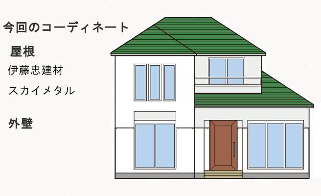 イラスト屋根重ね葺き工事、雨樋交換工事【244】