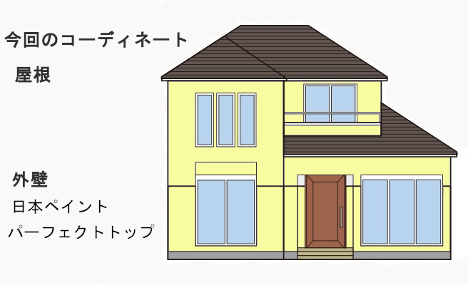 イラスト外壁塗装工事、屋根補修工事、雨樋交換工事【243】