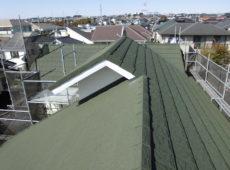 屋根重ね葺き工事、雨樋交換工事【244】