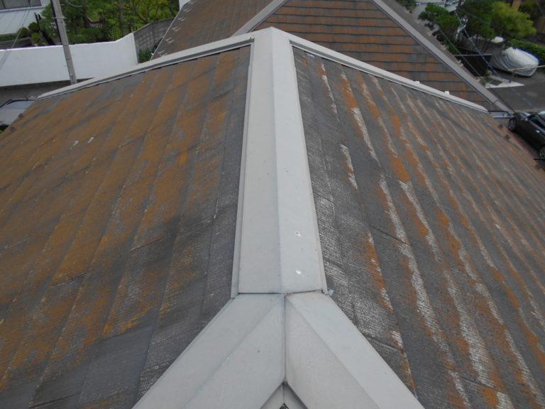施工前屋根重ね葺き工事、部分塗装工事【242】