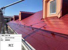 屋根塗装工事、波板交換工事、雨樋塗装工事【253】横浜市鶴見区
