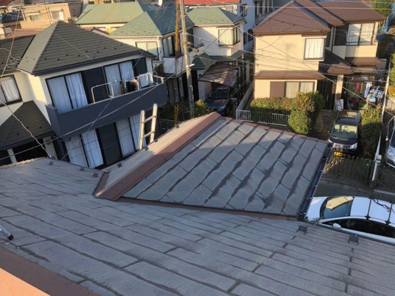 施工前屋根重ね葺き工事、外壁塗装工事、雨樋交換工事【255】