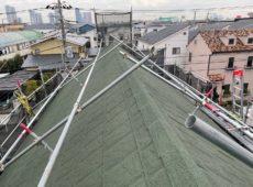 屋根重ね葺き工事、部分塗装工事、雨樋交換工事【257】