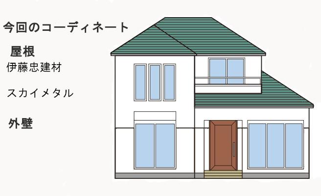 イラスト屋根葺き替え(2重剥がし)工事、遮熱工事、庇・瓦棒葺き替え工事【256】