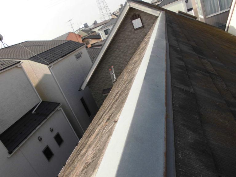 施工前屋根重ね葺き工事、部分塗装工事、雨樋交換工事【257】
