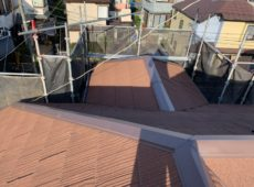 屋根重ね葺き工事、外壁塗装工事、雨樋交換工事【255】