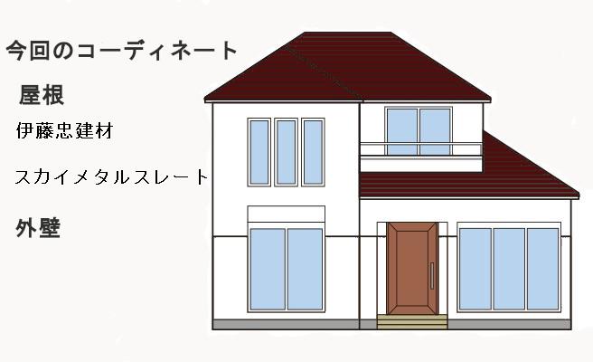 イラスト屋根重ね葺き工事 横浜市青葉区【259】