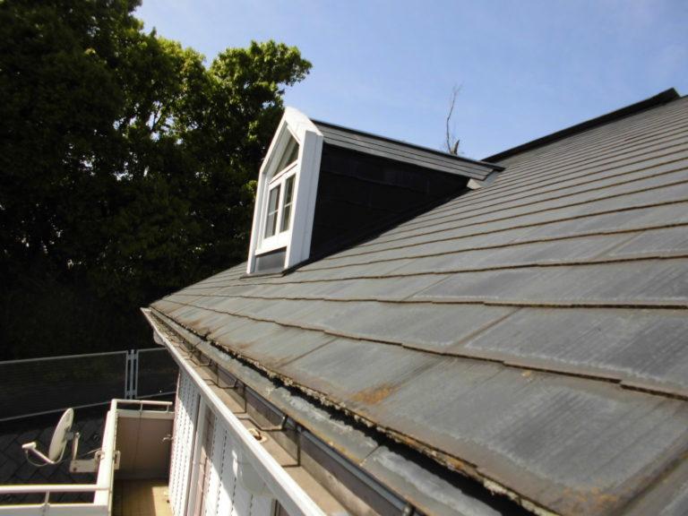 施工前屋根重ね葺き工事、外壁塗装工事【279】横浜市磯子区