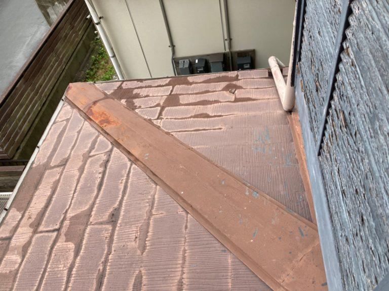 施工前下屋根重ね葺き工事、外壁塗装工事【285】横浜市青葉区