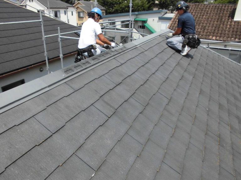 施工前屋根重ね葺き工事【288】横浜市青葉区