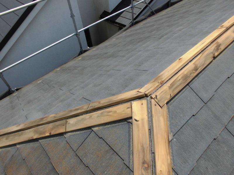 リフォーム施工中屋根重ね葺き工事【288】横浜市青葉区