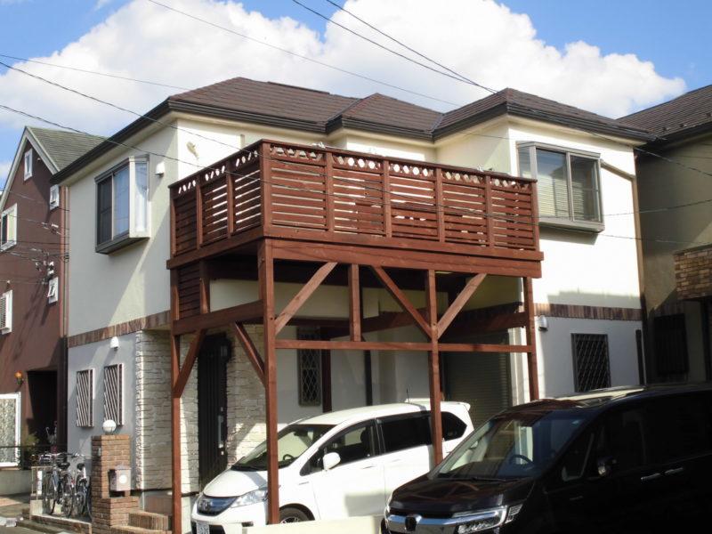 屋根重ね葺き工事、外壁塗装工事【290】横浜市都筑区