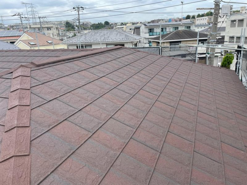 屋根重ね葺き工事、雨樋交換工事【291】横浜市都筑区